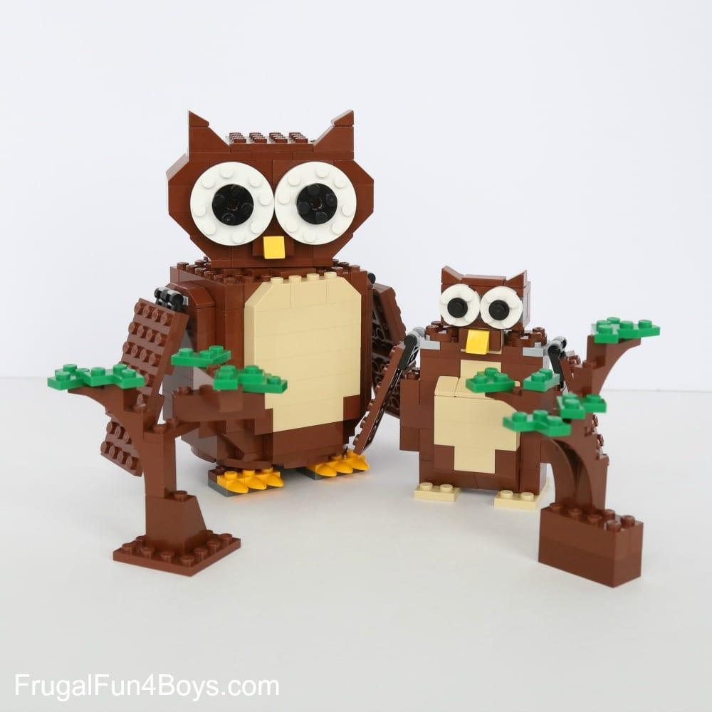 pyssel, pysseltips, pysselidé, barnpyssel, pyssel för barn, uggla, ugglor, LEGO, byggklossar