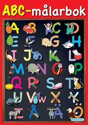 lära sig alfabetet, alfabet, ABC, bokstäver, lära sig bokstäverna, barnpyssel, pyssel för barn, målarböcker, målarbok, färglägga alfabetet