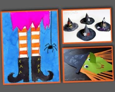 pyssel, pysseltips, pysselidé, barnpyssel, pyssel för barn, halloween, halloweenpyssel, skapa, häxa, halloweenhäxa, häxor