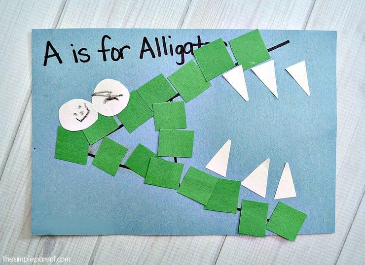 lära sig alfabetet, alfabet, ABC, bokstäver, lära sig bokstäverna, barnpyssel, pyssel för barn, papperspyssel, pyssla med papper