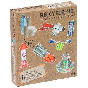återvinningspyssel, barnpyssel, pyssel för barn, färdiga pysselset, pysselbox, rymdpyssel