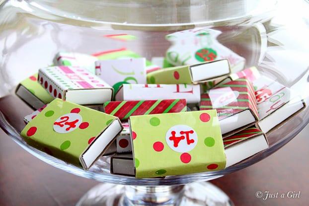 adventskalender, kalender, julkalender, advent, pyssel, julpyssel, barnpyssel, pyssel för barn, tändsticksask, tändsticksaskar