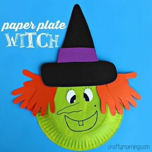 pyssel, pysseltips, pysselidé, barnpyssel, pyssel för barn, halloween, halloweenpyssel, skapa, häxa, halloweenhäxa