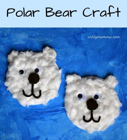 pyssel, pysseltips, pysselidé, barnpyssel, pyssel för barn, vinterpyssel, isbjörnar, bomull, papperstallrikar
