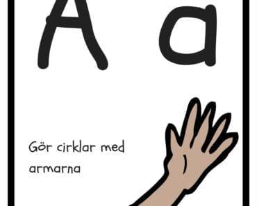 aktiviteter för barn, barnaktiviteter, pyssla och lek, knep och knåp, lära sig alfabetet, lära sig bokstaven A, röra på sig, lekar, rörelselekar