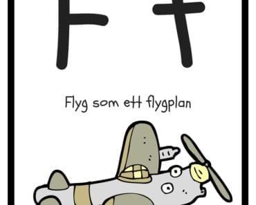 aktiviteter för barn, barnaktiviteter, pyssla och lek, knep och knåp, lära sig alfabetet, lära sig bokstaven F, röra på sig, lekar, rörelselekar
