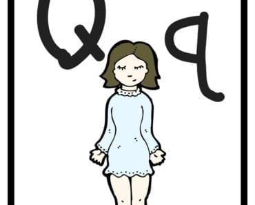 aktiviteter för barn, barnaktiviteter, pyssla och lek, knep och knåp, lära sig alfabetet, lära sig bokstaven Q, röra på sig, lekar, rörelselekar