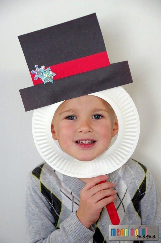 pyssel, pysseltips, pysselidé, barnpyssel, pyssel för barn, snögubbe, snögubbar, vinter, vinterpyssel, julpyssel, pyssel jul, enkla pyssel, roliga pyssel, mask, klä ut sig, papperstallrik, papperspyssel