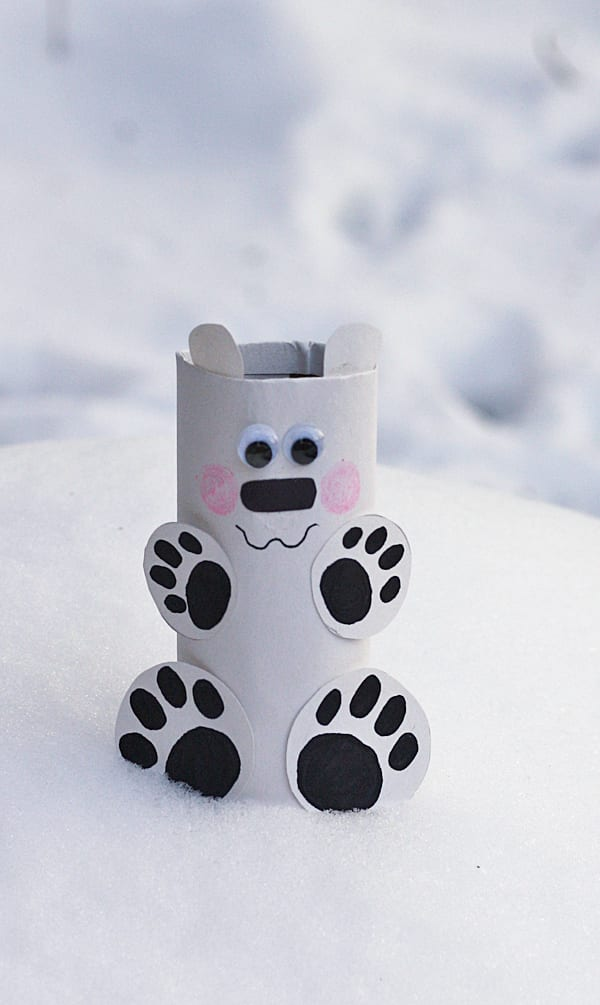 pyssel, pysseltips, pysselidé, barnpyssel, pyssel för barn, vinterpyssel, isbjörnar, toarulle, toarullepyssel, pyssla med toarullar