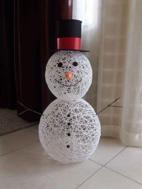pyssel, pysseltips, pysselidé, barnpyssel, pyssel för barn, snögubbe, snögubbar, vinter, vinterpyssel, julpyssel, pyssel jul, enkla pyssel, roliga pyssel, dekoration, inredning, stående snögubbe