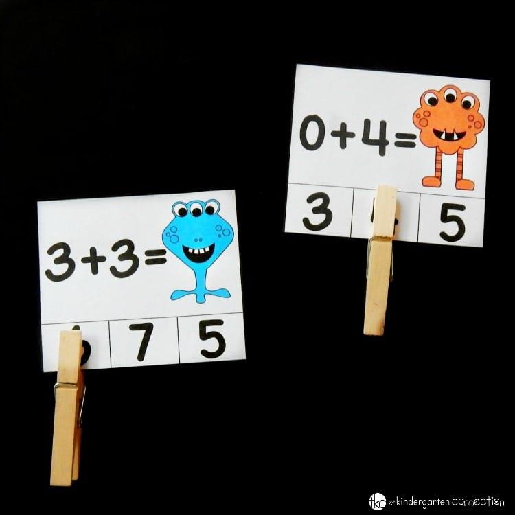aktiviteter för barn, barnaktiviteter, pyssla och lek, knep och knåp, lektioner, skola, lektionstips, förskola, matte, matematik, lära sig räkna, addition, räknekort