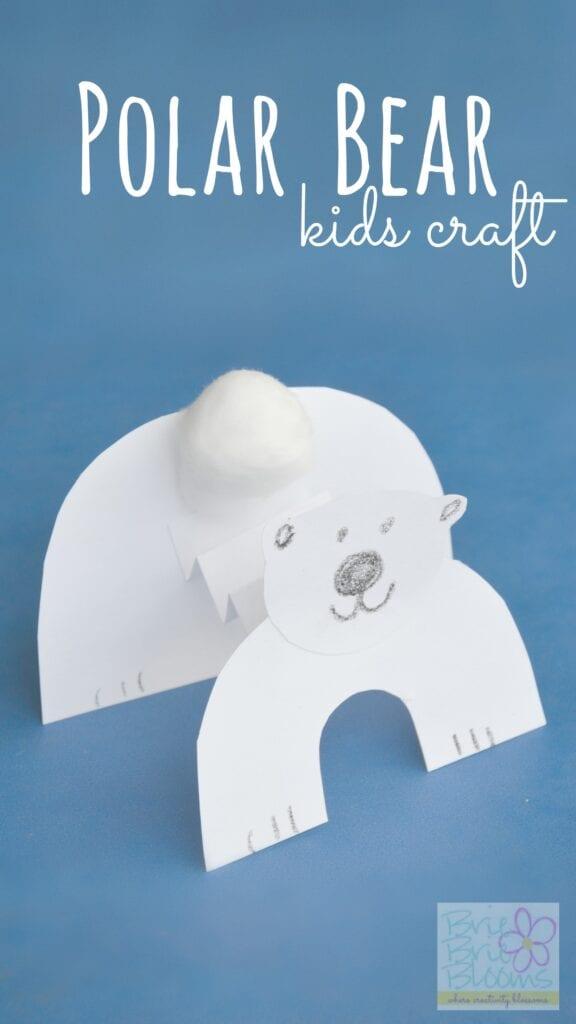 pyssel, pysseltips, pysselidé, barnpyssel, pyssel för barn, vinterpyssel, isbjörnar, papper, papperspyssel