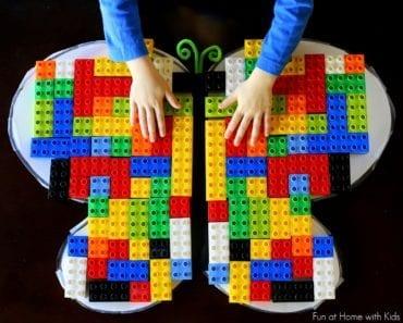 aktiviteter för barn, barnaktiviteter, pyssla och lek, knep och knåp, lektioner, skola, lektionstips, förskola, känna igen mönster, symmetri