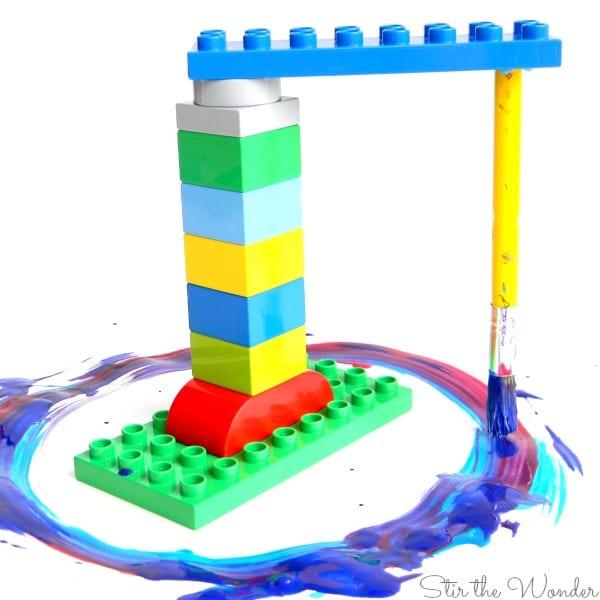 aktiviteter för barn, barnaktiviteter, pyssla och lek, knep och knåp, lektioner, skola, lektionstips, förskola, LEGO Duplo, målar, målarfärg, hobbyfärg,