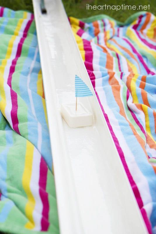 sommaraktiviteter, barnpyssel, barnaktiviteter, sommarlekar, vattenlekar, båtar av tvål