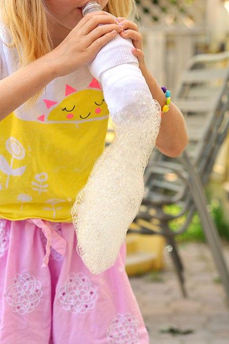 ommaraktiviteter, barnpyssel, såpbubblor