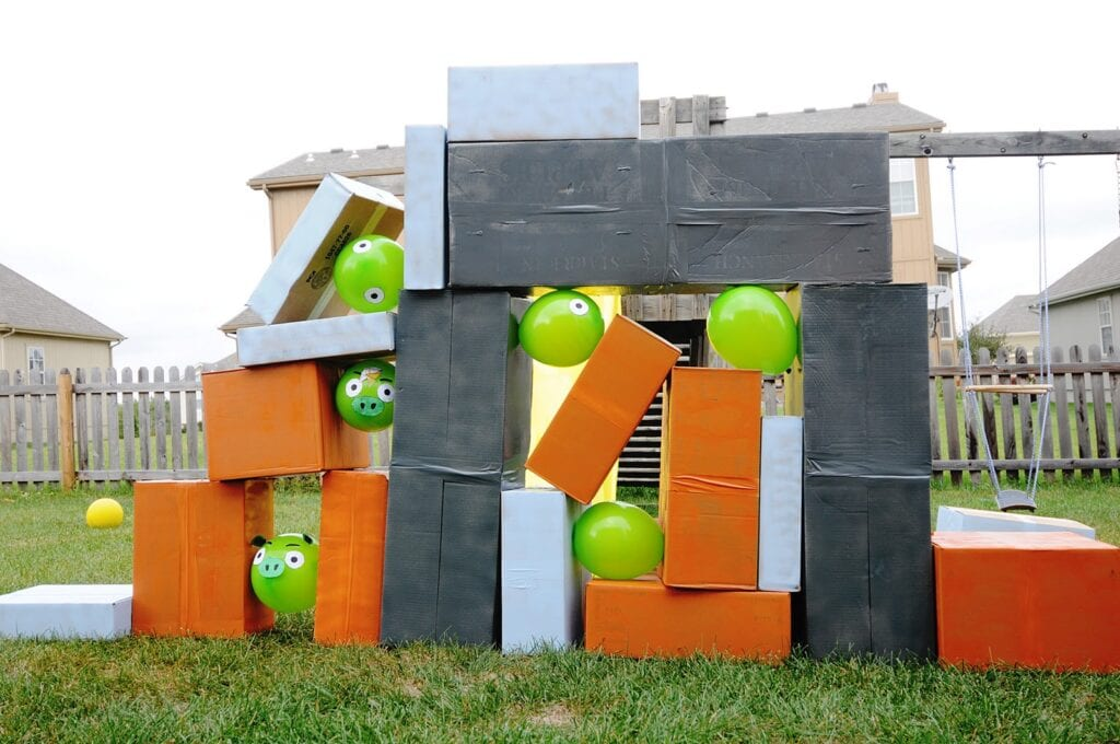 sommaraktiviteter, barnpyssel, barnaktiviteter, Angry Birds på riktigt