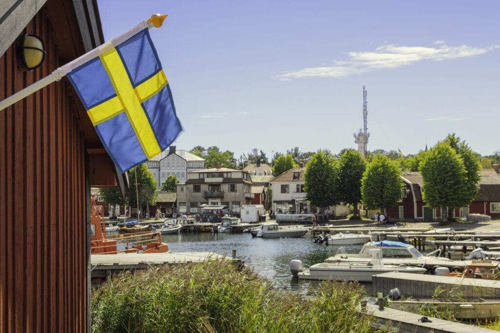 hamnen i Sandhamn