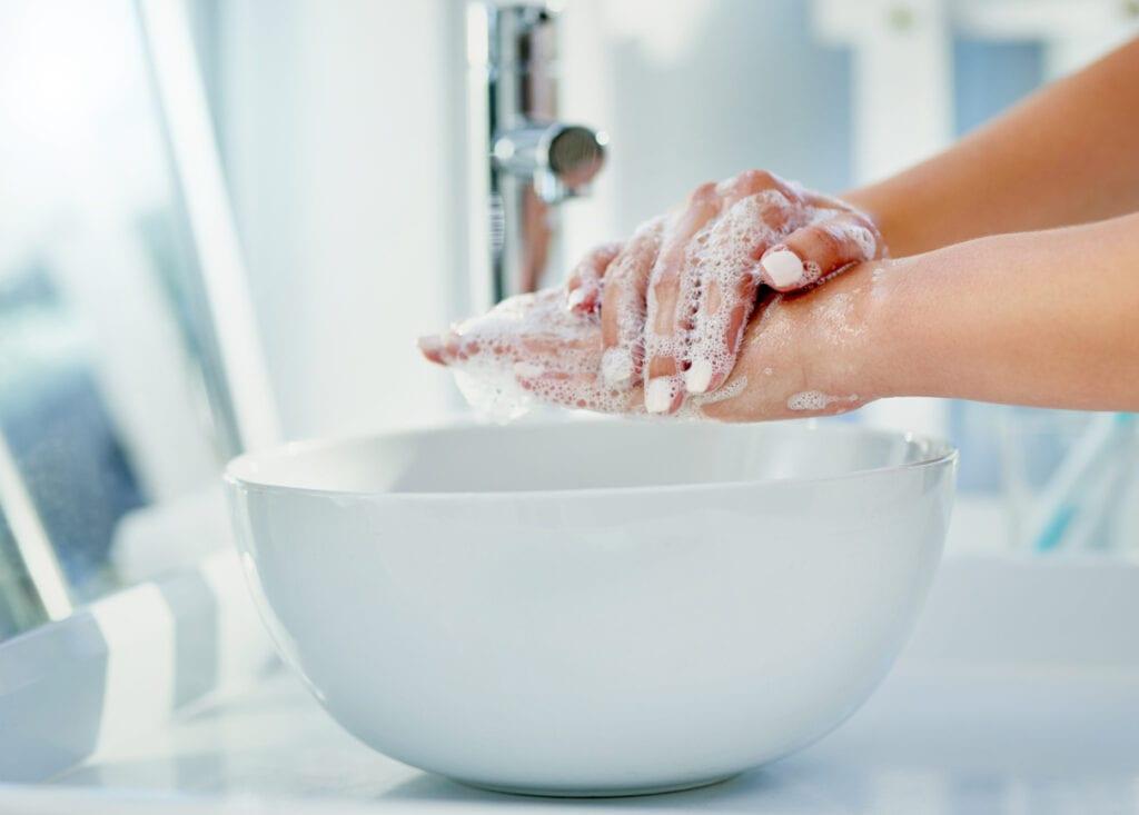 tvätta händerna rätt