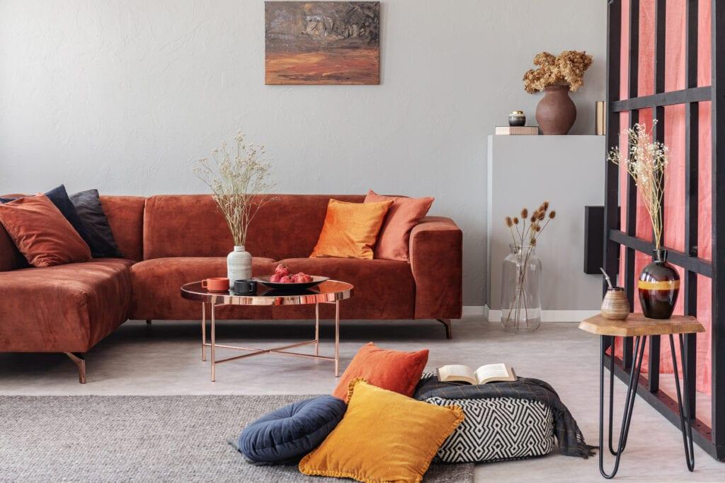 möbler i sammet
